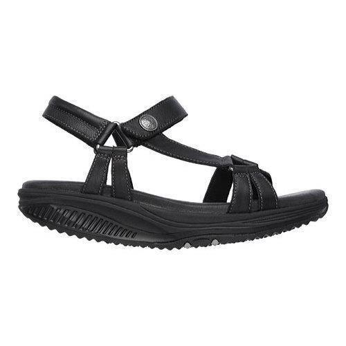 skechers shape ups sandals black
