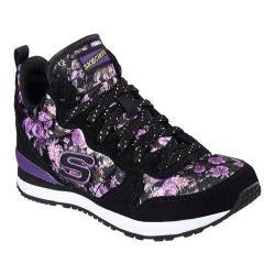 Girls' Skechers Retrospect Hollywood Rose High Top Black/Purple
