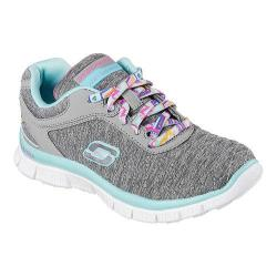 Girls' Skechers Skech Appeal Eye Catcher Sneaker Gray/Aqua