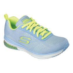 Women's Skechers Skech-Air Infinity Training Shoe Light Blue/Yellow