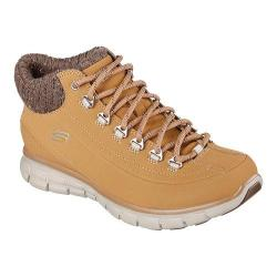 Women's Skechers Synergy Winter Nights Lace Up Shoe Wheat