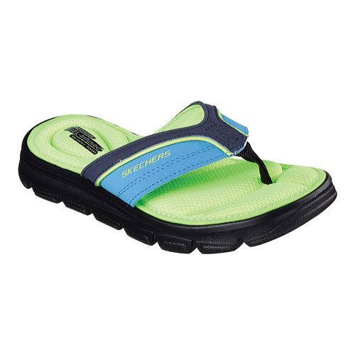a72c23ed9288 Shop Boys  Skechers Wind Swell Sand Diver Thong Sandal Navy Lime - Free  Shipping On Orders Over  45 - Overstock.com - 11553700