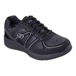 Men's Skechers Work Relaxed Fit Burst Slip Resistant Lace Up Black