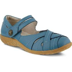 Women's Spring Step Hearts Mary Jane Blue Leather