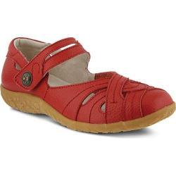 Women's Spring Step Hearts Mary Jane Red Leather