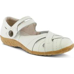 Women's Spring Step Hearts Mary Jane White Leather