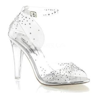 Women's Fabulicious Clearly 430RS Ankle Strap Clear Lucite