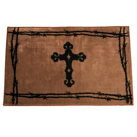 HiEnd Accents Cross Print 4 x 36-inch Acrylic Rug - 4 x 36