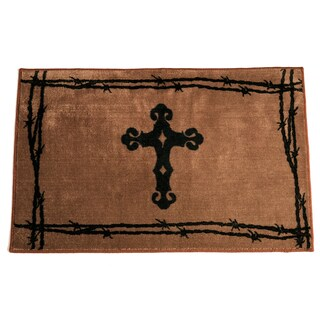 HiEnd Accents Cross Print 4 x 36-inch Acrylic Rug