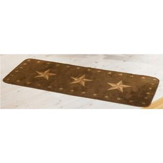 HiEnd Accents Star Dark 24 x 60-inch Acrylic Rug