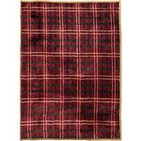 HiEnd Accents High Country Plaid 24 x 36-inch Acrylic Rug