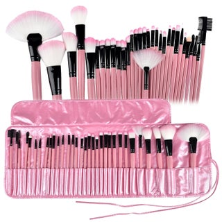 Zodaca 32-piece Professional Makeup Brushes Tool Set with Pouch Bag - Pink