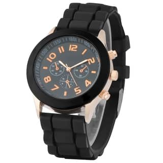 Zodaca Black Analog Quartz Silicone Jelly Men's Sports Watch (Option: Black)|https://ak1.ostkcdn.com/images/products/10001055/P17150171.jpg?impolicy=medium