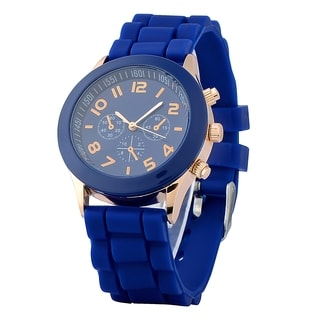 Zodaca Dark Blue Analog Quartz Silicone Jelly Sports Watch