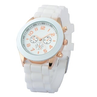 Zodaca White Analog Quartz Silicone Jelly Sports Watch