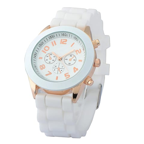Zodaca White Analog Quartz Silicone Jelly Sports Watch