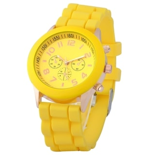 Zodaca Yellow Analog Quartz Silicone Jelly Sports Watch