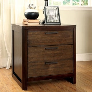 Furniture of America Arlins Modern Tobacco 2-Drawer Nightstand