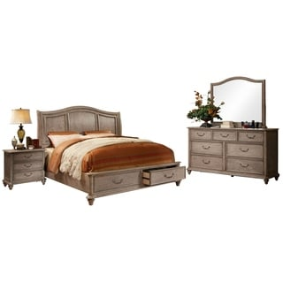 furniture of america minka iii rustic grey 4 piece bedroom set