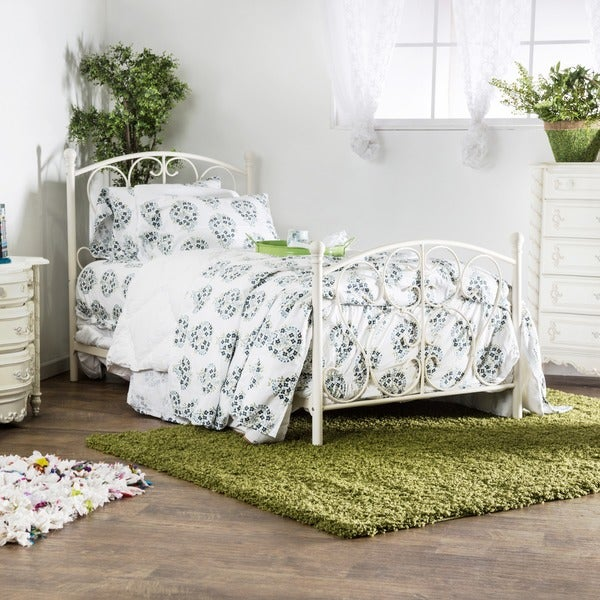 Shop Furniture of America Bridelle Princess Style Metal Twin Bed ...