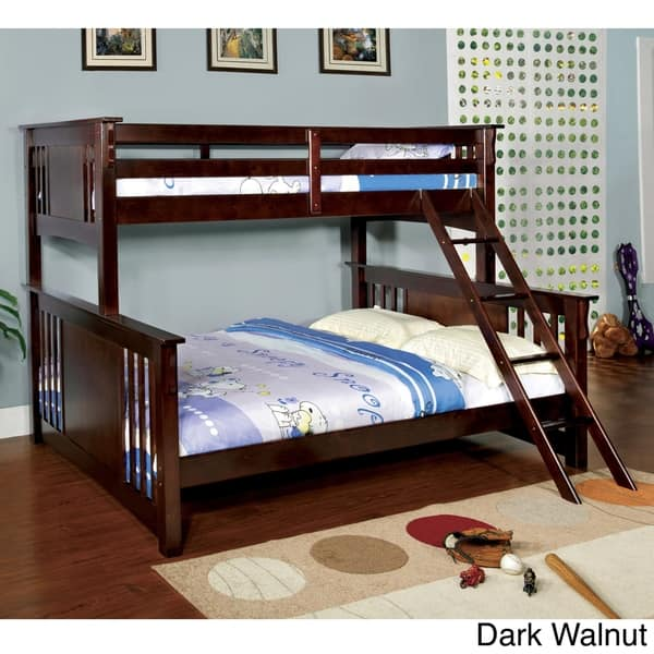 Furniture Of America Cude Mission Twin Xl Over Queen Bunk Bed On Sale Overstock 10001083