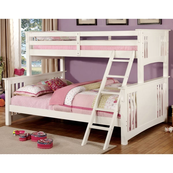 Shop Furniture Of America Junior Mission Twin Xl Over Queen Bunk Bed