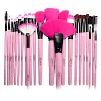 Zodaca 24PCS Pink Professional Makeup Brushes Set with Carrying Pouch