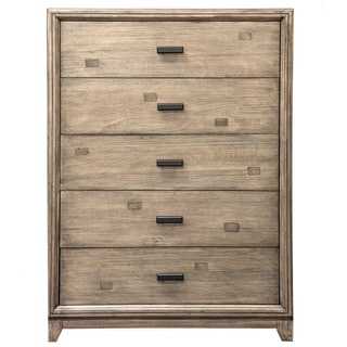 Furniture of America Arian Rustic Natural Ash 5-Drawer Chest