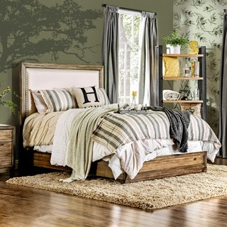 Furniture of America Arian Rustic Natural Ash Bed