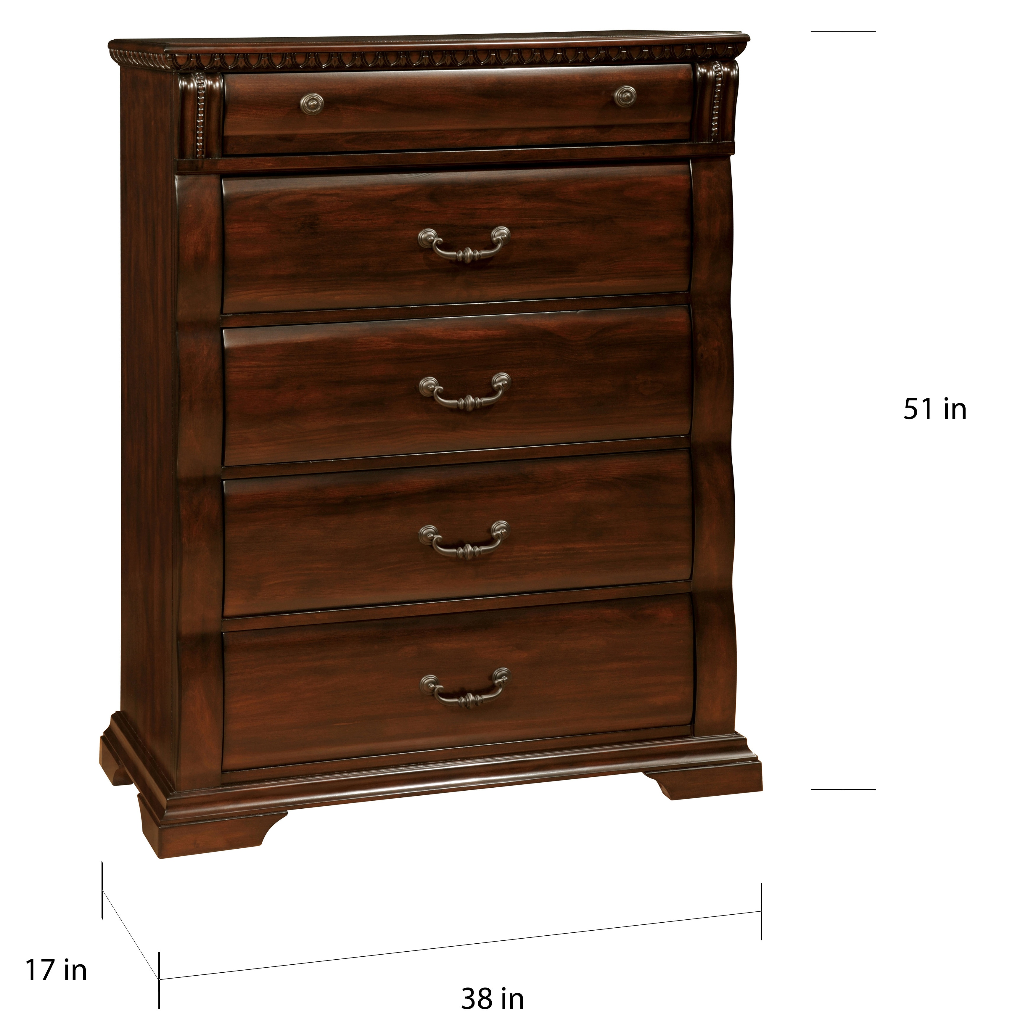 Tay Traditional Cherry Solid Wood 5
