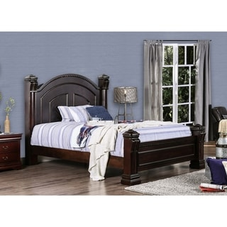 Furniture of America Tay Traditional Cherry Solid Wood Poster Bed