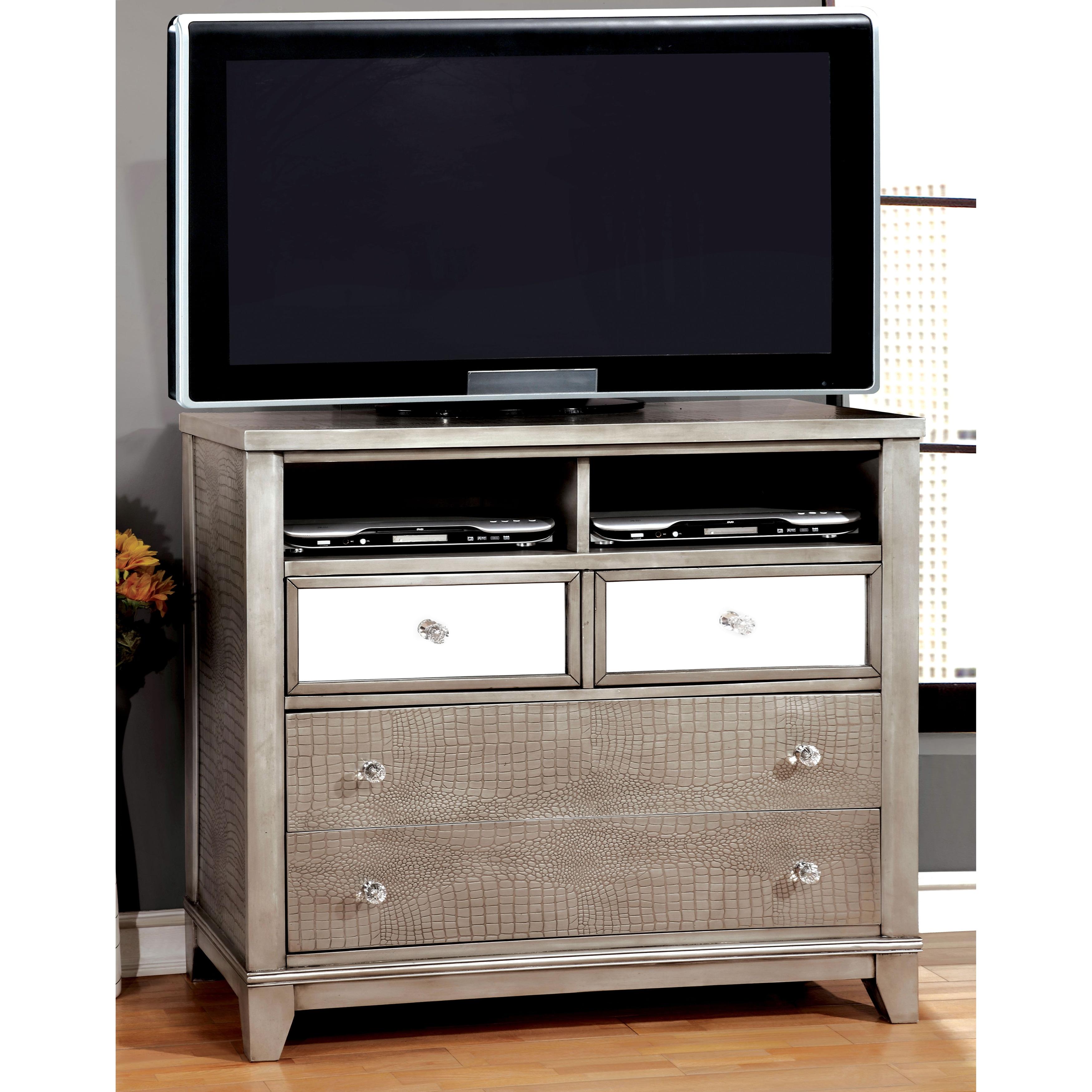 Furniture of America Divonne Modern Crocodile Silver Medi...