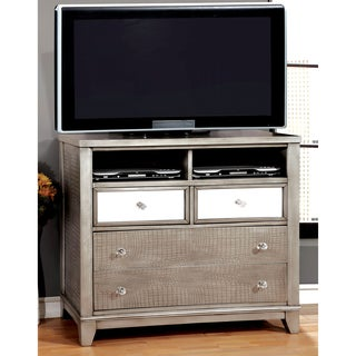 Silver Orchid Gerrard Modern Crocodile Silver Media Chest