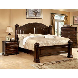 Furniture of America Tay Traditional Cherry 3-piece Bedroom Set