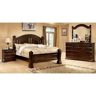 king poster bedroom sets. Furniture of America Tasine Cherry 4 Piece Poster Bedroom Set Size King Bed Sets For Less  Overstock com