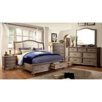 Minka IV Farmhouse Rustic Grey 4-Piece Bedroom Set by FOA