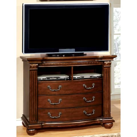 Furniture of America Vayne Traditional 47-inch Cherry Media Chest