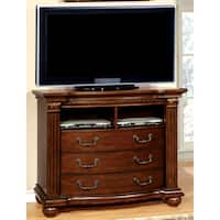 Furniture of America Vayne Traditional Cherry Media Chest