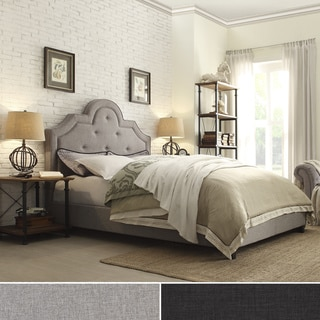 Harper Tufted High-arching Linen Upholstered Full-size Bed by iNSPIRE Q Bold