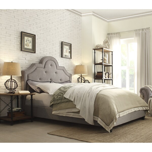 harper tufted high arching linen upholstered king size bed by inspire q bold - High King Size Bed Frame