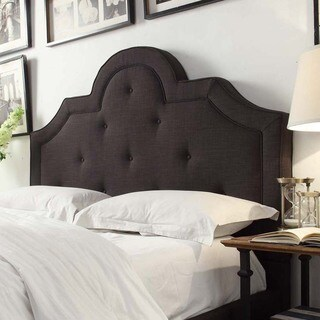 Harper Tufted High-arching Linen Upholstered Queen-size Headboard by iNSPIRE Q Bold