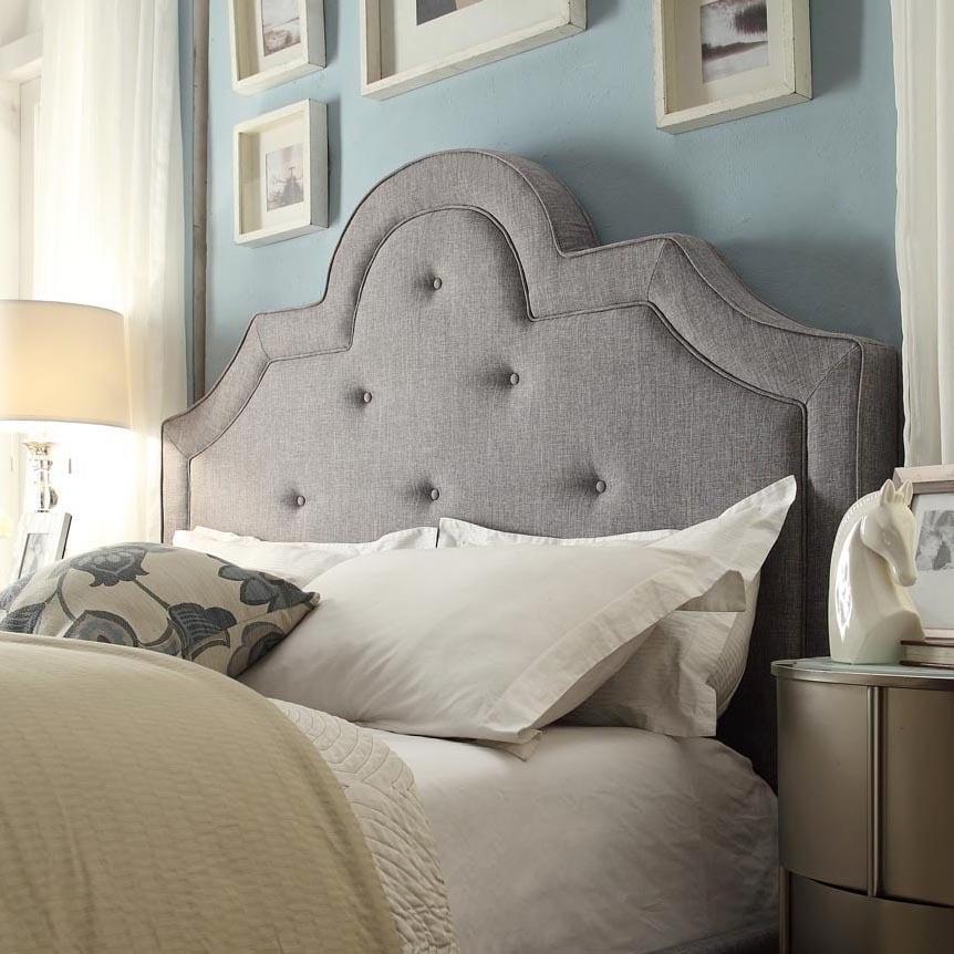 Harper Tufted High-arching Linen Upholstered King-size He...
