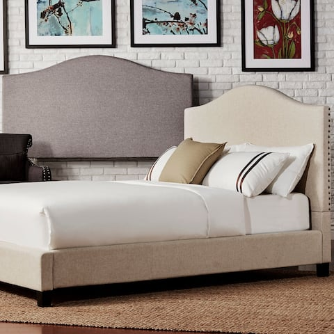 Blanchard Nailheads Camelback Upholstered Queen-size Headboard by iNSPIRE Q Bold