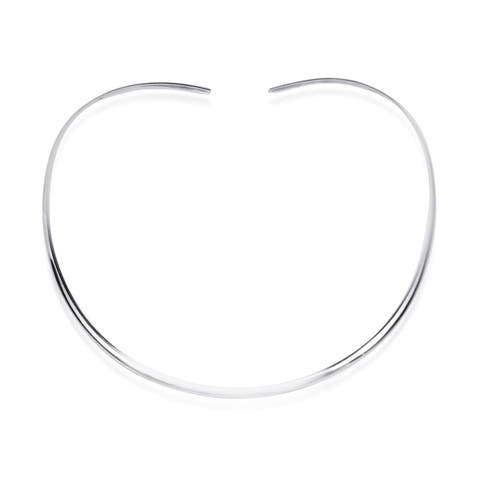 Handmade Contempo Plain .925 Silver Choker Necklace (Thailand)