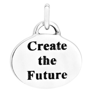 Inspiration Charm 'Create the future' .925 Silver Pendant