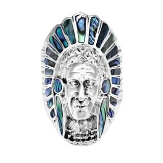 Handmade Native American Indian Chief Head Stone Sterling Silver Ring (Option: 14)|https://ak1.ostkcdn.com/images/products/10001304/P17150468.jpg?impolicy=medium