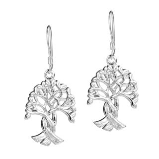 Handmade Binding Root Tree of Life .925 Sterling Silver Earrings (Thailand)