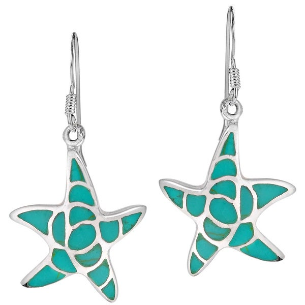 ac19345dc Handmade Sea Farers Starfish Stone Sterling Silver Dangle Earrings  (Thailand)
