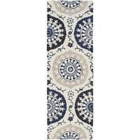 Hand-Tufted Daphne Medallion Wool Area Rug (2'6 x 8')