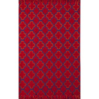 Moroccan Red Rug (2' X 3')
